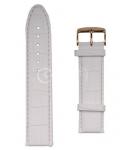 Белый Ремешок для наручных часов A-6050PLS.8-WH24